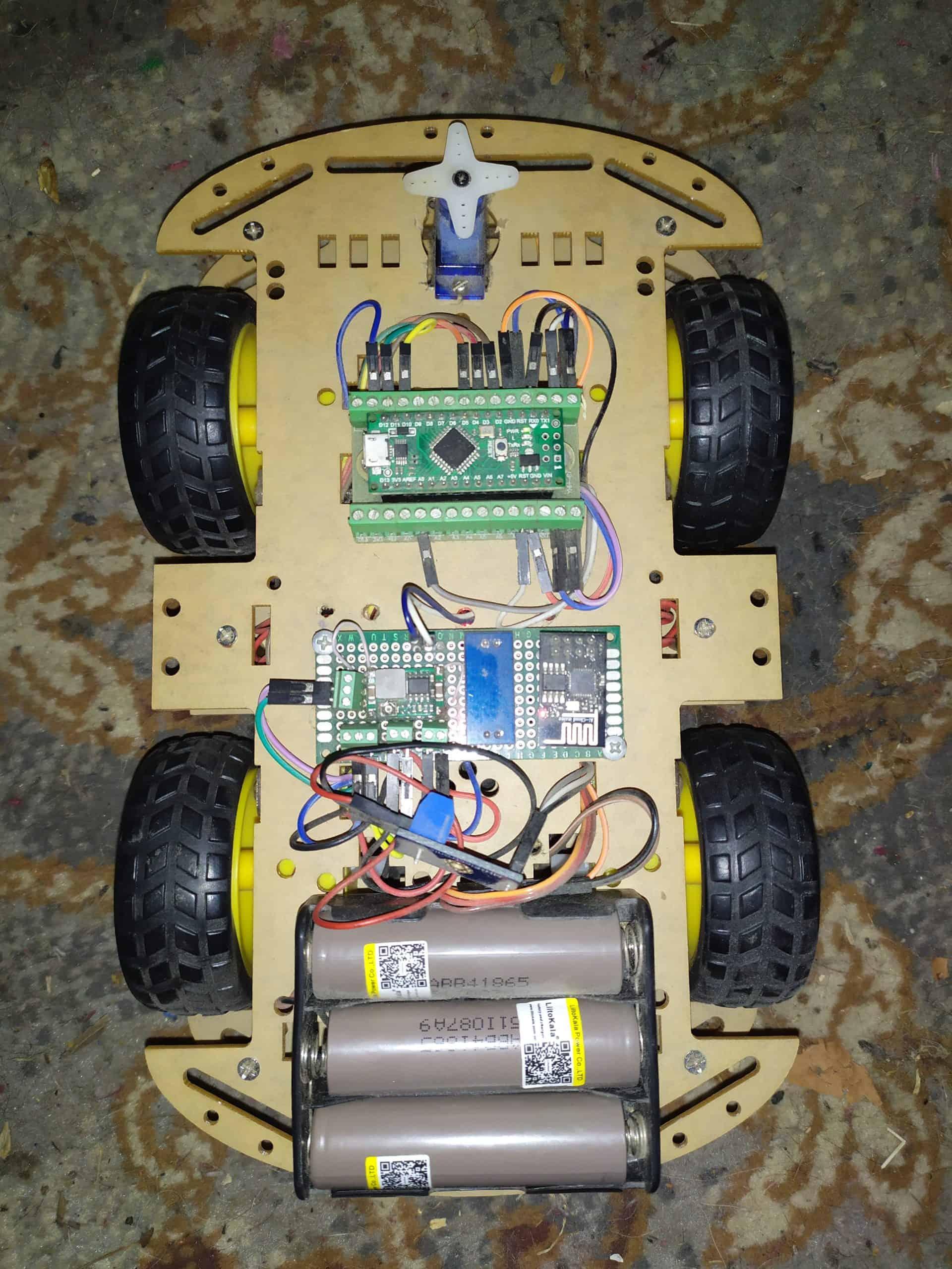 Машинка на ардуино с wi-fi